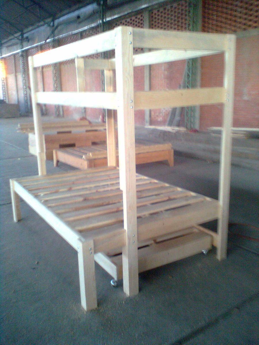 Litera mixta triple de madera 4 en mercado libre - Literas precios modelos ...