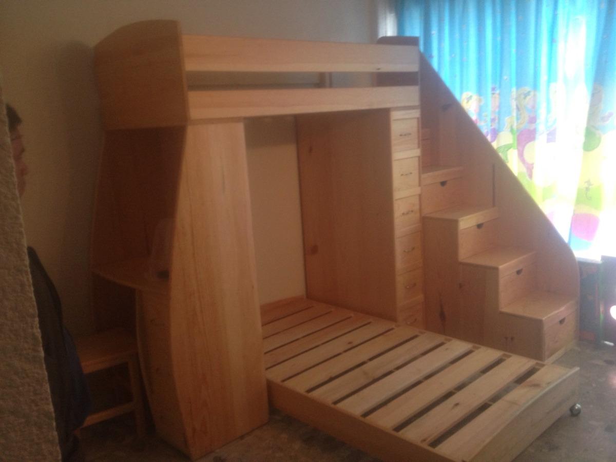 Litera nueva multifuncional muebles uni n 17 - Escaleras para camas altas ...