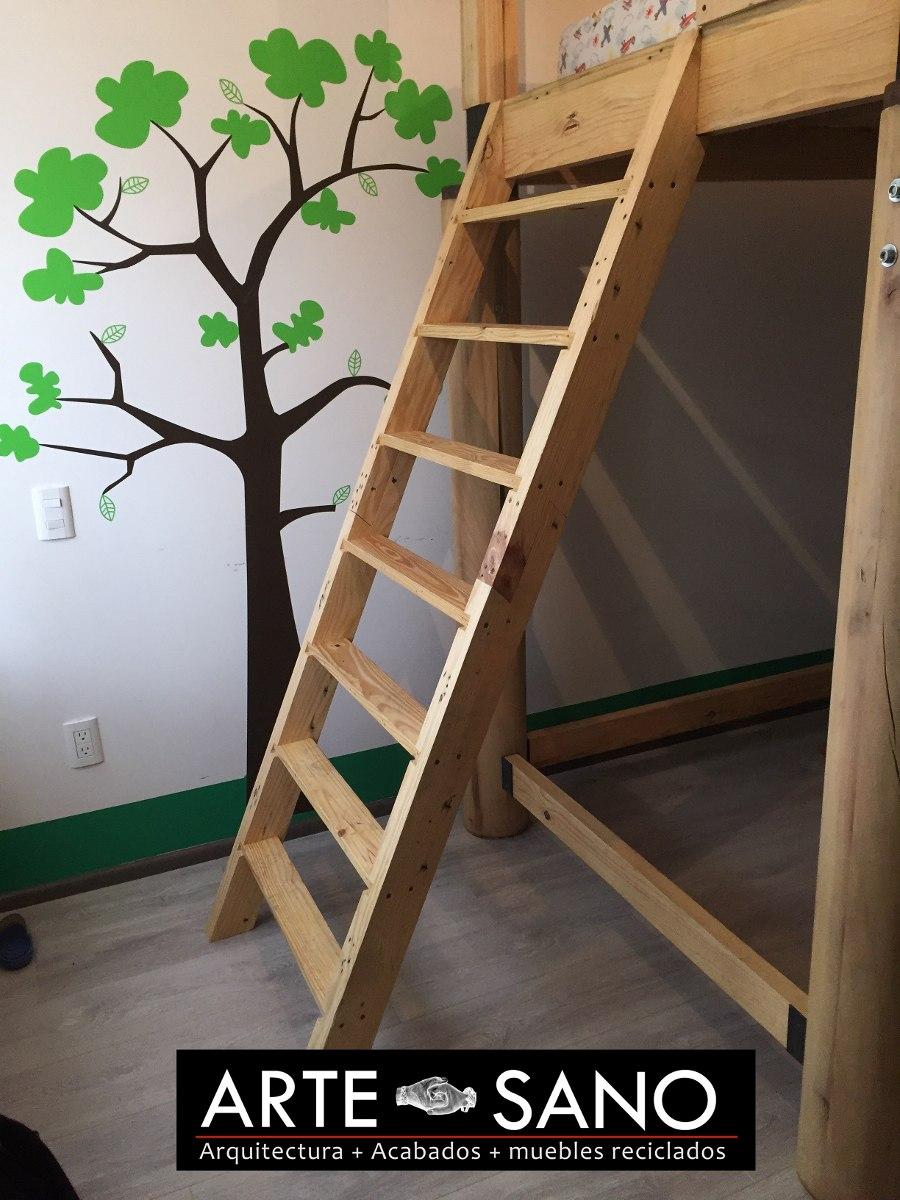 Litera Para Niño Tipo Casa De árbol 100 Madera Reciclada