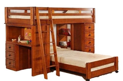 litera texas 2 camas individuales - cerezo këssa muebles