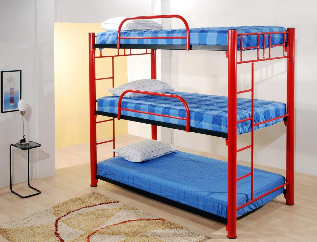Litera triple roja 3 en mercado libre for Cuanto sale un sofa cama