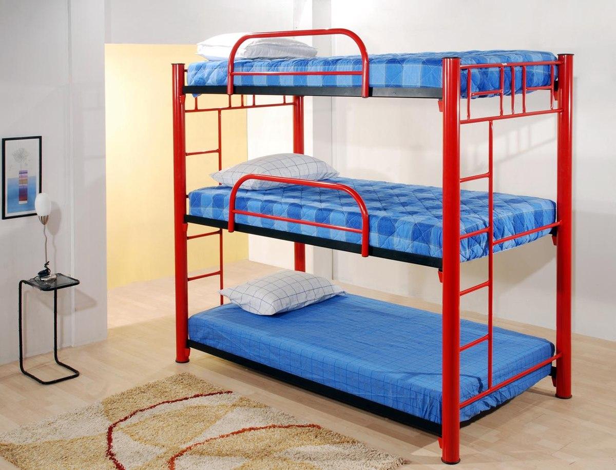Litera triple roja 3 en mercado libre for Cuanto sale un sofa cama
