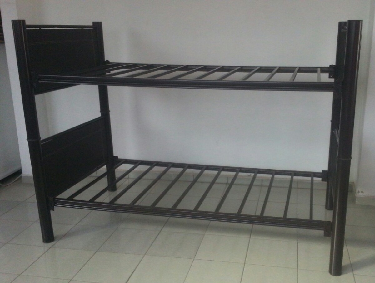 Litera tubular base cabecera piecera indivi 2 camas - Fabrica de literas ...