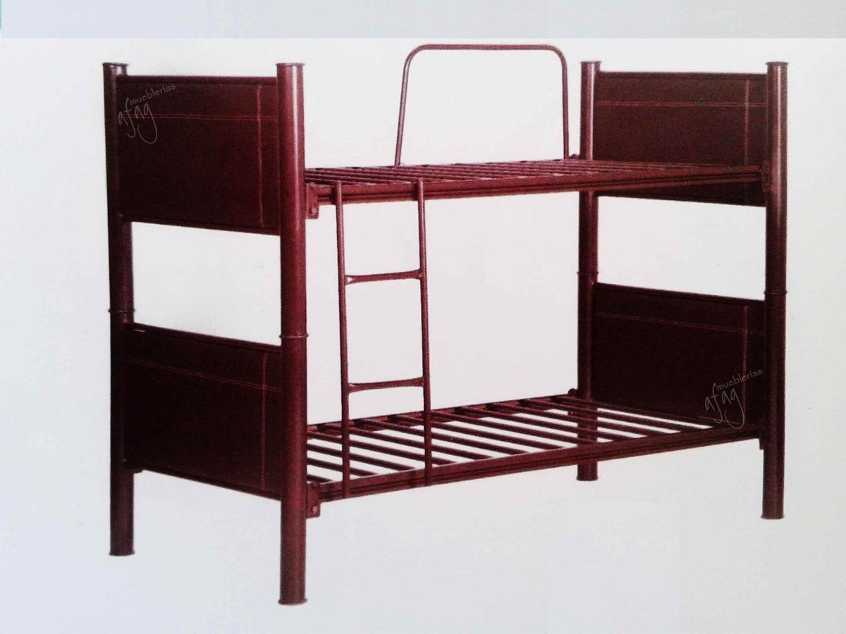 Litera tubular y tapizada o 2 camas individual gemela for Camas en coppel