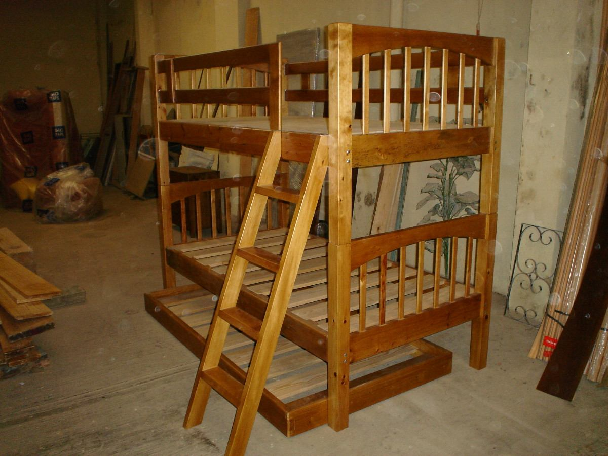 Literas de madera maciza 5 en mercado libre - Literas madera maciza ...