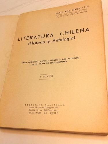 literatura chilena. historia antologia. a roa