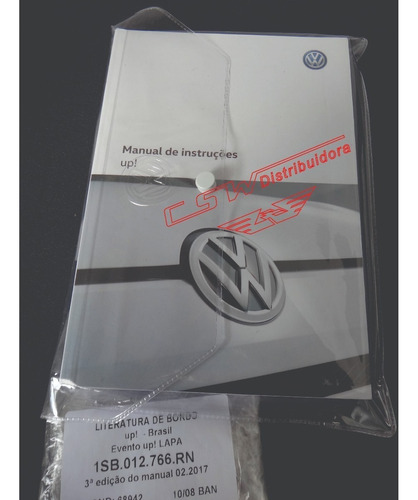 literatura de bordo up 2017 nº1sb012766rn original vw