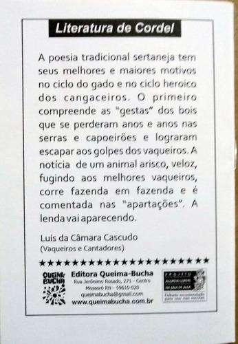 literatura de cordel - história do boi vermelhinho