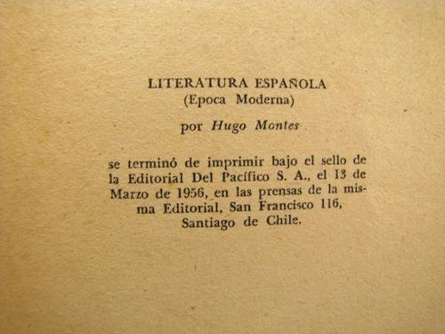 literatura española moderna . hugo montes