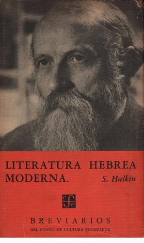 literatura hebrea moderna simon halkin breviario fce