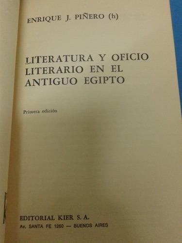 literatura y oficio literario en el antiguo egipto. piñero h