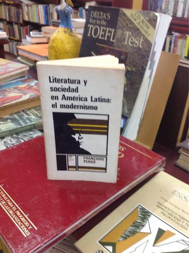 literatura y sociedad en américa latina: modernismo.