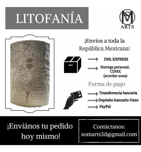 litofania 3d personalizada con base y control! san valentin!