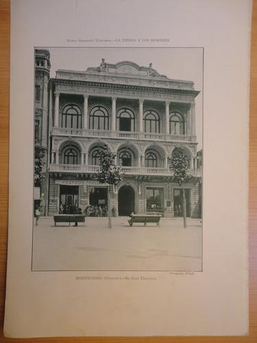 litografía antigua montevideo club uruguayo fot.fillat