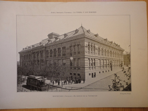 litografía antigua montevideo ,universidad fotografía fillat