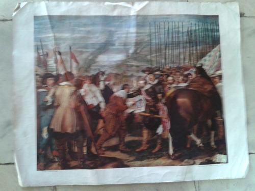 litografia antigua printed in spain madrid rendición