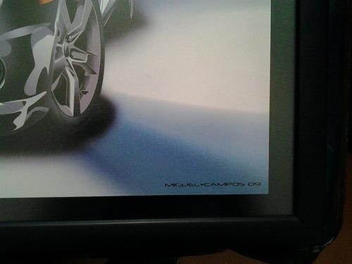 litografia camaro automovil rines chevrolet chevy