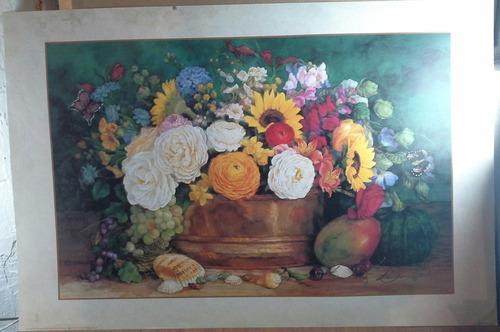 litografía florero mexicano clave 2283