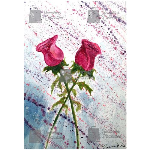litografia moderna oleo reflejo de amor little memories