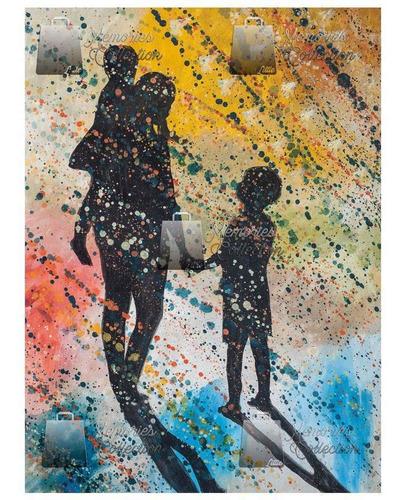 litografia oleo el consejo amoroso de mama little memories