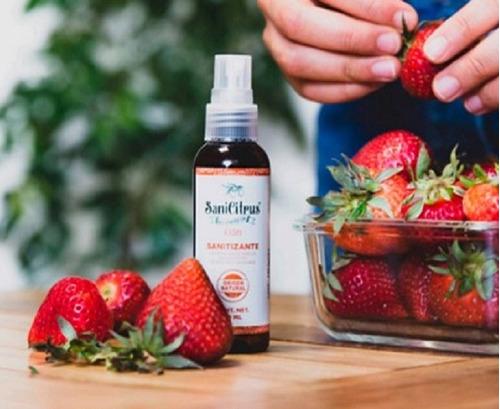 litro de desinfectante para verduras, frutas y utensilios