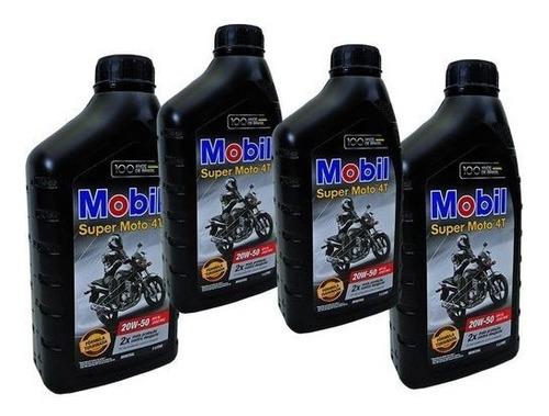 litro de óleo 20w-50 mobil super moto 4t para titan 125/150.