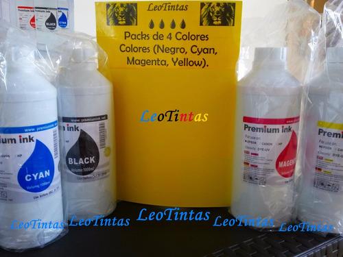 litros de tintas packs de 4 colores epson l355 l555 l365 etc