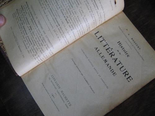 litterature allemande (literatura alemana). en frances
