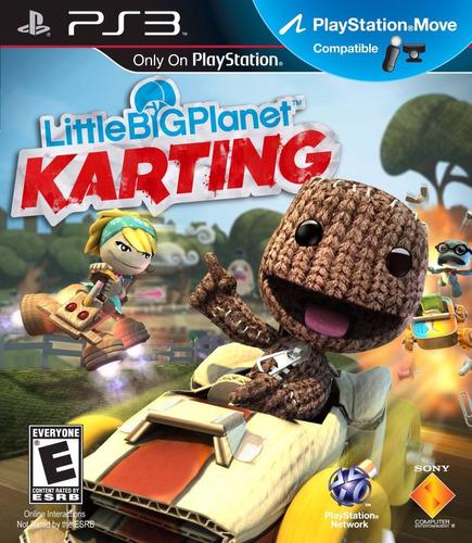 little big planet karting - ps3 -  digital - manvicio