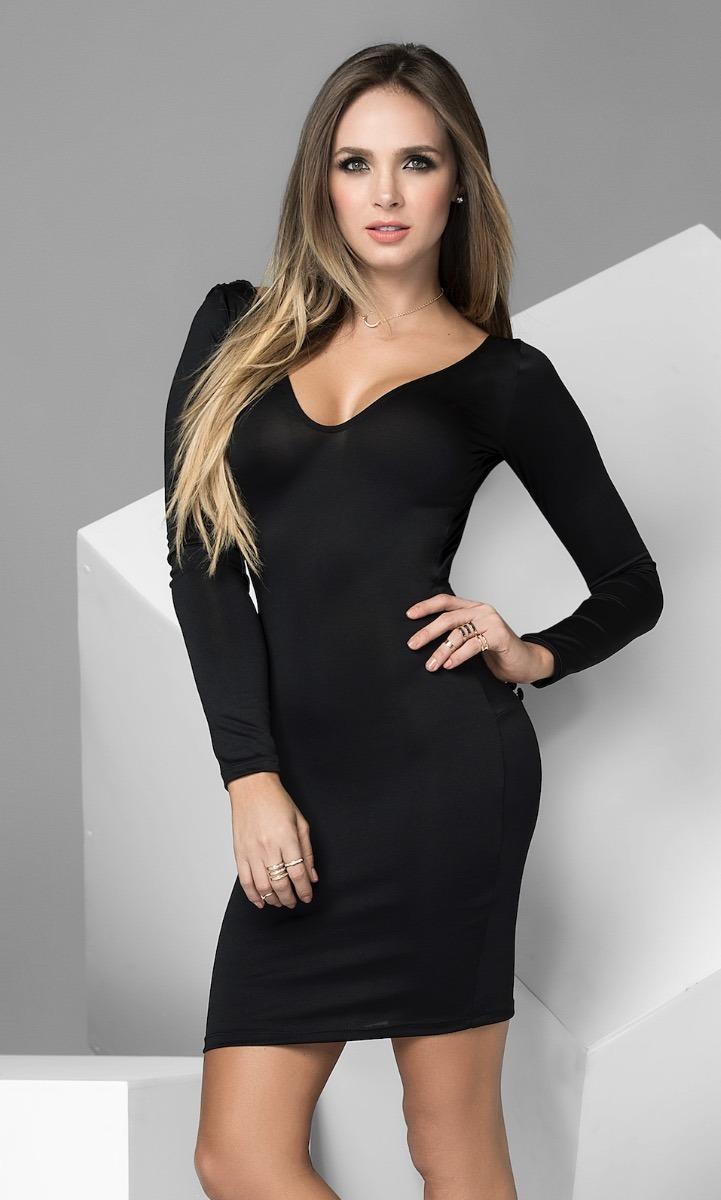 b3d919d61 Little Black Dress Vestido Negro Coctel Colección 2018 4471 ...