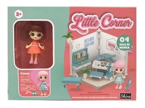 little corner 04 muñeca coleccionable playset c/acc. shine