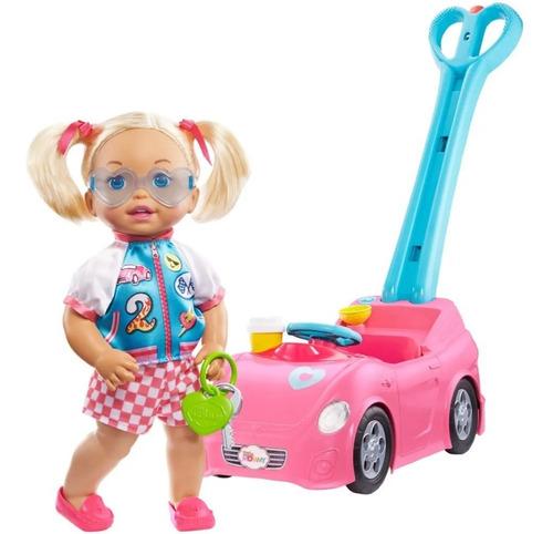 little mommy muñeca paseo con burbujas mattel