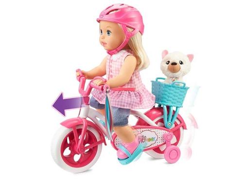 little mommy paseo en bicicleta  muñeca niña original oferta