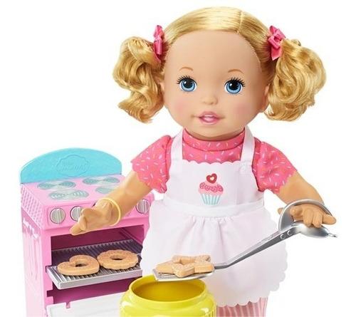 little mommy preparando galletas muñeca mattel original