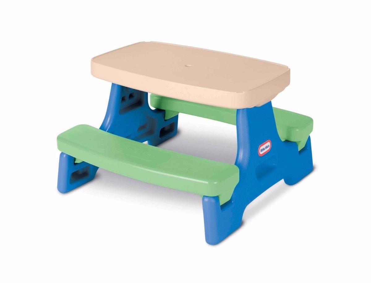 Little tikes easy store mesa de picnic para ni os - Mesas para ninos pequenos ...