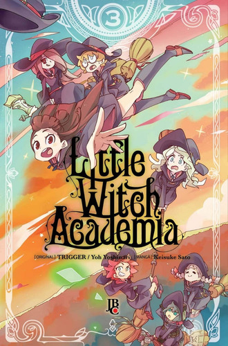 little witch academia 1 ao 3! mangá jbc! novo e lacrado!
