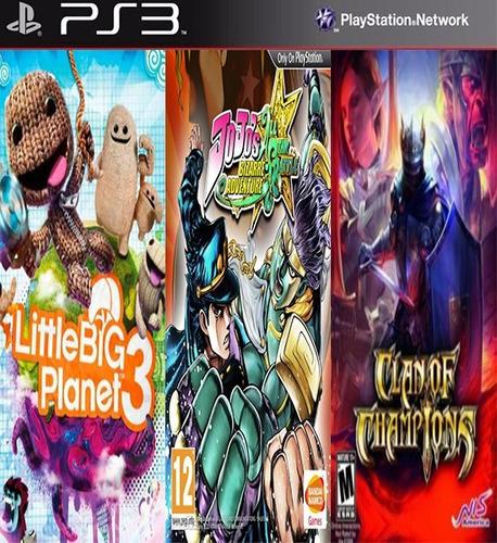 littlebigplanet 3 & allstar & clan of champions digital ps3