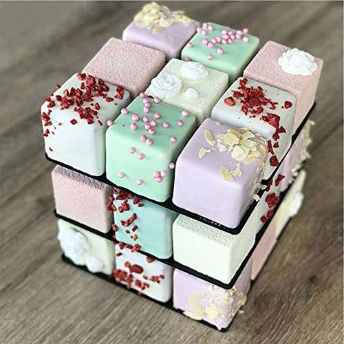 littleice diy 3d metal cube cake molde de