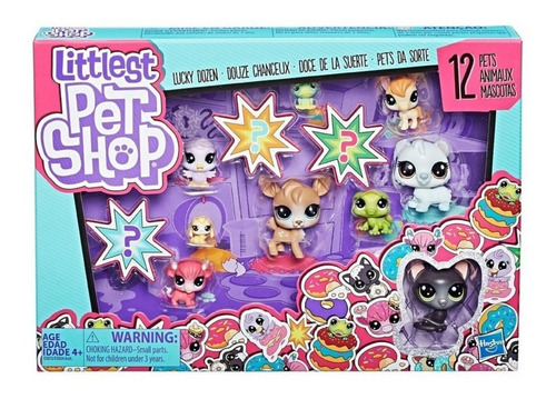 littlest pet shop 12 figuritas - donuts