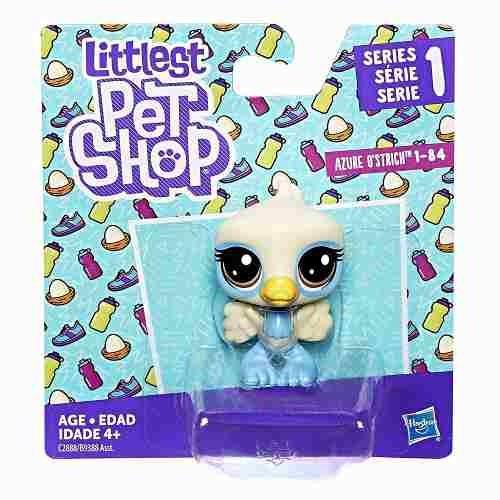 littlest pet shop azure o'strich sobre ruedas juguetes