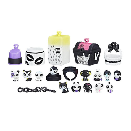 littlest pet shop colección blanco y negro pet pack