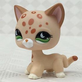 Littlest Pet Shop Lps Gata Leopardo Manchas Short Hair