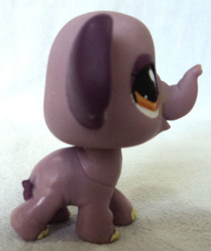 littlest pet shop original elefante lila ojo marron hasbro