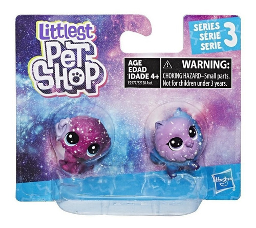 littlest pet shop pack 2 figuras cosmicas - romulus water...
