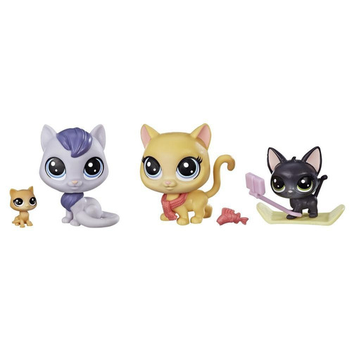 littlest pet shop snowboarding kitty crew (3729)
