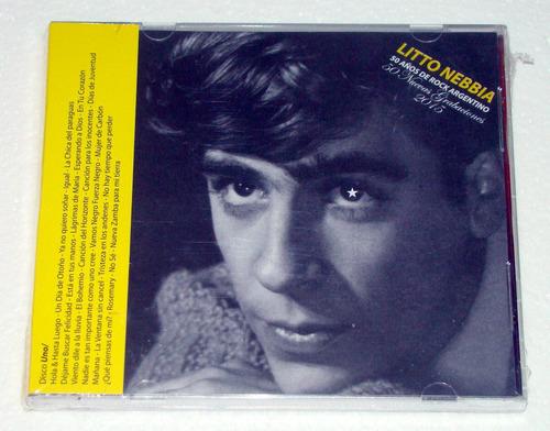 litto nebbia 50 años de rock argentino  x2 cds nuevo / kktus