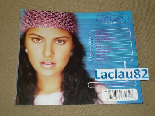 litzy transparente 1998 emi cd