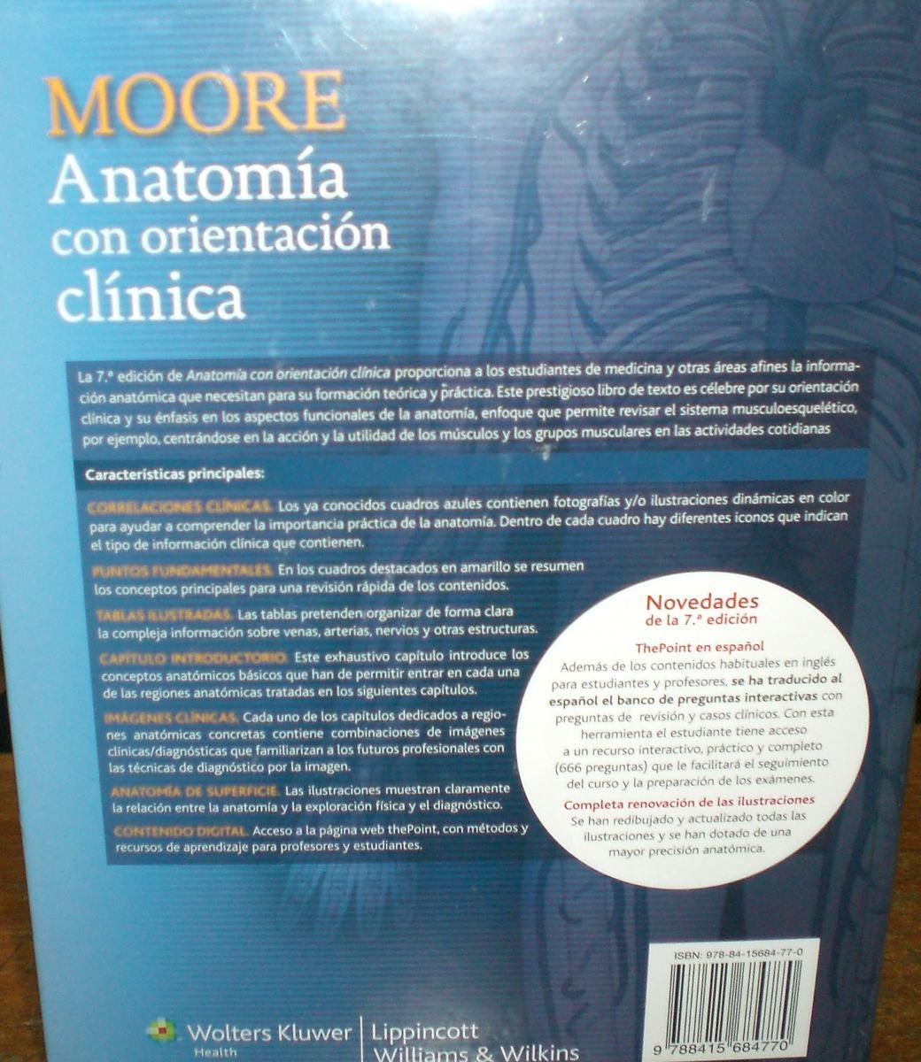 Liv Libro Anatomía Con Orientación Clínica, 7ed Autor Moore - Bs ...