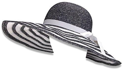 de27f395610 Livativ Bleu Nero Luxury Floppy Hat Playa Sun Hat Para Mujer ...