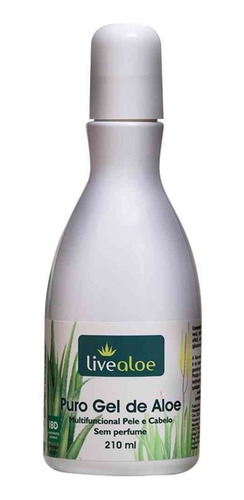 live aloe -  puro gel de aloe vera - kit com 3 unidades